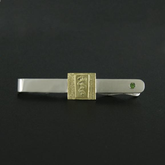 Prendedor de Gravata em Prata 950 com Emblema do Curso em Ouro Amarelo