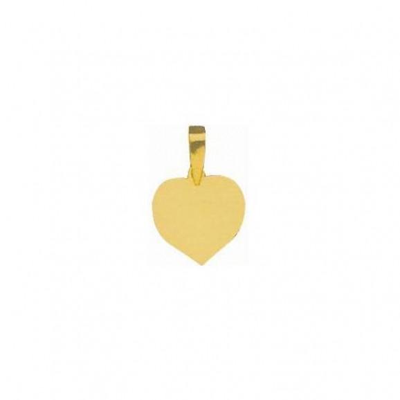 Pingente em Ouro Amarelo 18K Coração para Fotogravação