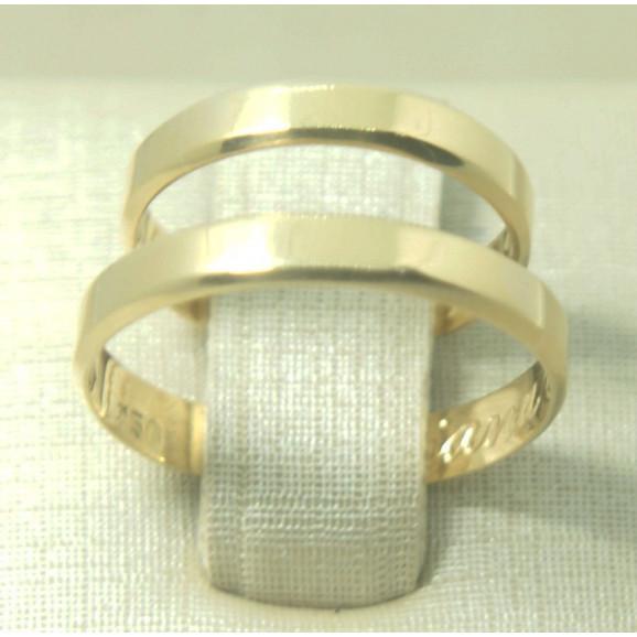 Aliança de Casamento em Ouro 18k Chanfrada