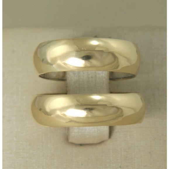 Aliança de Casamento em Prata 950 com Ouro 18k