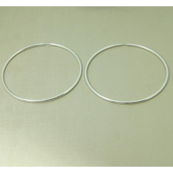 Brinco de Argola em Prata 950 Médio