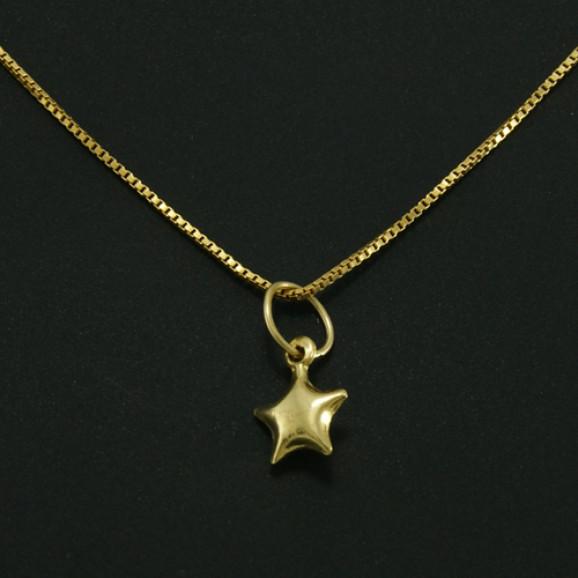 Tornozeleira em Ouro Amarelo 18K com Pingente de Estrela