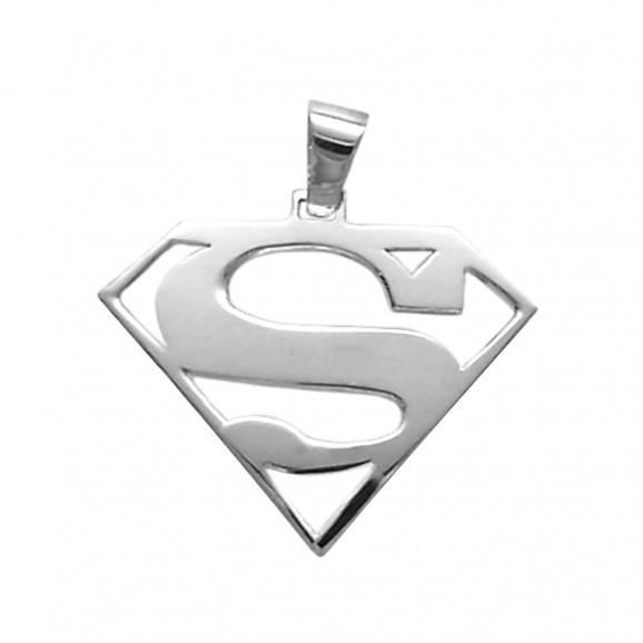 Pingente Masculino em Prata 950 Super Homem