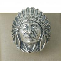 Anel Masculino em Prata 950 Índio