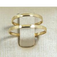 Aliança de Casamento em Ouro Amarelo 18K Reta Tradicional