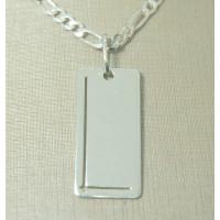 Pingente Masculino em Prata 950 Placa