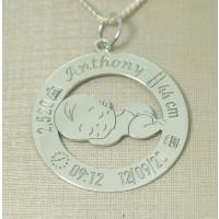 Pingente em Prata 950 dados do Nascimento