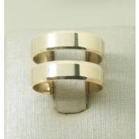 Aliança de Casamento em Ouro Amarelo 18K Reta