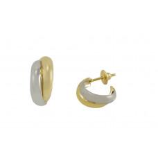 Brinco de Argola em Ouro Amarelo e Ouro Branco 18K