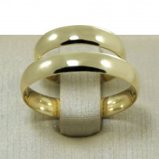 Aliança de Casamento em Ouro Amarelo 18K Tradicional