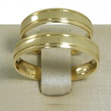 Aliança de Casamento em Ouro Amarelo 18K com Frisos