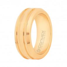 Aliança Aço Eros 8mm Gold IPG