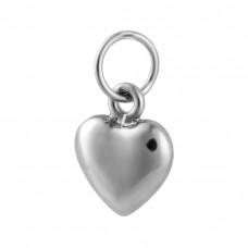 Pingente Prata Coração Duplo 7x7mm