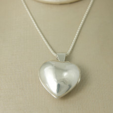 Pingente em Prata 950 Relicário Coração
