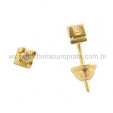Brinco em Ouro Amarelo 18K Cartier com Brilhante