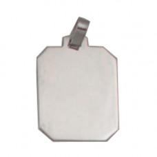 Pingente Retangular em Prata 950 para Fotogravação