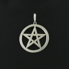 Pingente em Prata 950 Pentagrama