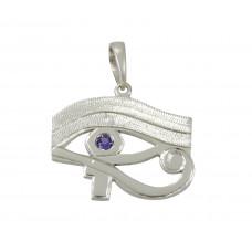 Pingente em Prata 950 Olho de Horus com Zircônia