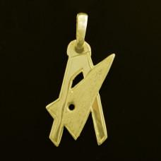 Pingente de Formatura em Ouro Amarelo 18K Engenharia