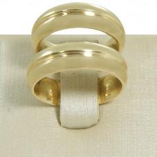Aliança de Casamento em Ouro Amarelo 18K com Friso