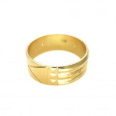 Anel Masculino em Ouro Amarelo 18K Atlante