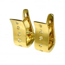 Brinco de Argola em Ouro Amarelo 18K com Brilhantes