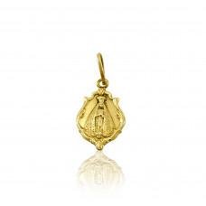 Pingente em Ouro Amarelo 18K Medalha de Nossa Senhora Aparecida