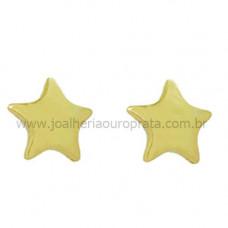 Brinco Infantil em Ouro Amarelo 18K Estrela