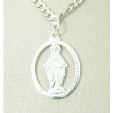 Pingente em Prata 950 Nossa Senhora Aparecida