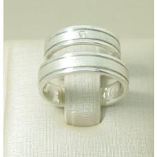 Aliança de Compromisso em Prata 950 com Friso e Diamantado