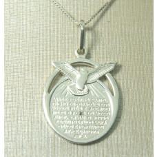 Pingente Espírito Santo em Prata 950.
