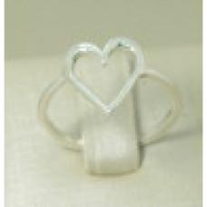 Anel em Prata 950 Coração
