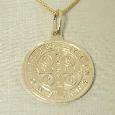 Pingente em Ouro Amarelo 18K Medalha de São Bento
