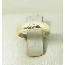 Aparador de Aliança em Ouro Amarelo 18K com Diamante