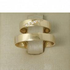 Aliança de Casamento em Ouro Amarelo 18K com Diamante