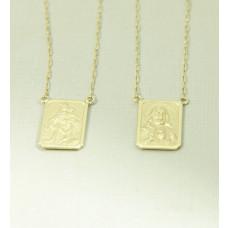 Escapulário em Ouro 18k com Corrente Cartier