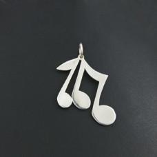 Pingente em Prata 950 Notas Musicais