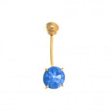 Piercing de Umbigo em Ouro Amarelo 18K com Topázio