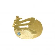 Pingente de Formatura em Ouro Amarelo 18K Biologia com Topázio