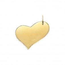 Pingente em Ouro Amarelo 18K Coração