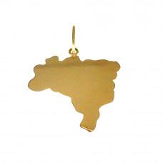 Pingente em Ouro Amarelo 18K Mapa do Brasil