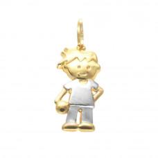 Pingente de Bonequinho em Ouro Amarelo 18K