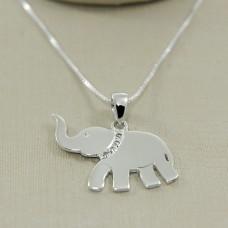 Pingente em Prata 950 Elefante com Zircônias