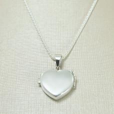 Relicário em Prata 950 Coração