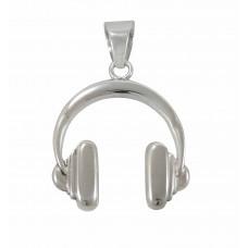 Pingente em Prata 950 Fone de Ouvido
