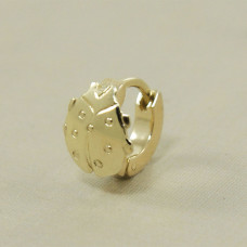Piercing de Orelha em Ouro Amarelo 18K Joaninha