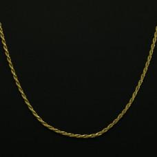 Corrente Masculina em Ouro Amarelo 18K Cordão Torcido