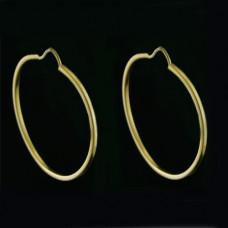 Brinco de Argola em Ouro Amarelo 18K Liso