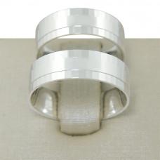Aliança de Compromisso em Prata 950 Reta Espelhada