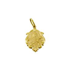 Pingente em Ouro Amarelo 18K Medalha de Santa Terezinha
